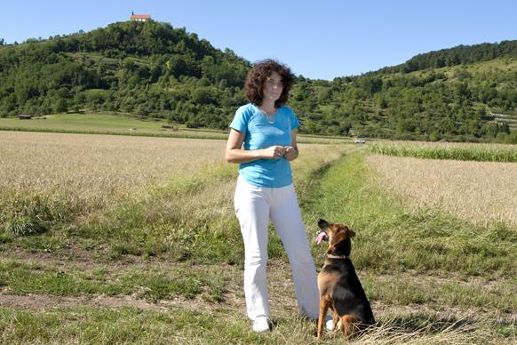 Dr. Katja Küther mit Hund